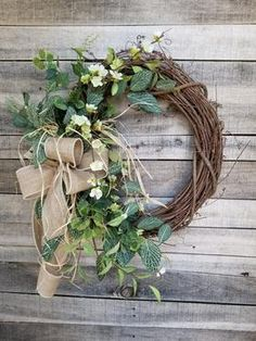 Apple Blossom / Fittonia Front Door Wreath