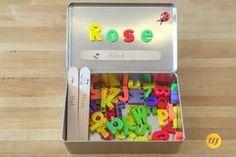 Buchstabenbox für unterwegs - Best DIY and Crafts 2019 Learning Activities, Kids Learning, Activities For Kids, Games For Kids, Diy For Kids, Crafts For Kids, Montessori Materials, Busy Bags, Reading Skills