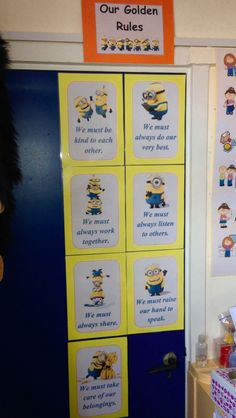 Minions golden rules for the class