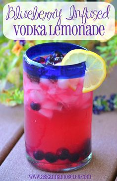 Blueberry infused Vodka lemonade, 4 months and i'll be fixing up some of these bad boys for my bad gurls;)