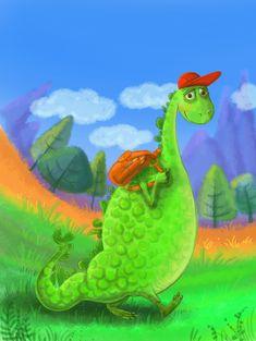 Stories For Kids, Digital Illustration, Textbook, Dinosaur Stuffed Animal, Illustrations, Toys, Children, Animals, Activity Toys