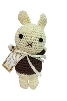 Dog Teeth Cleaning Cotton Crochet Squeaky Dog Toy for Small Dog  Little Bunny * More info could be found at the image url. This is an Amazon Affiliate links.