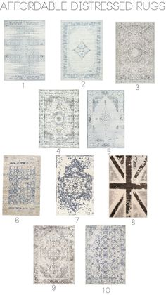 Affordable distressed rugs with nuLOOM!