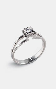 PRINCESS Engagement Ring Solitaire Diamond