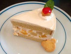 黒糖のフルーツクリームケーキ
