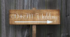 Wooden Wedding Signs Wedding Sign Rustic by SweetNCCollective, $25.00