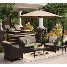 Love this whole outdoor model set!  | Target Home™ Belvedere 4-Piece Wicker Patio Conversation Furniture Set - Tan
