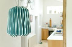Beautiful colour!  French Blue Wild Wood lampshade