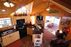 A park model cabin built by Rustic River Park Homes in Hamilton, AL. 205.921.9800 Live a Little!