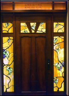 Greene & Greene inspired door, custom made by Heart of Oak Workshop