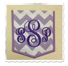 Applique Pocket Machine Embroidery Design  by RivermillEmbroidery, $2.95