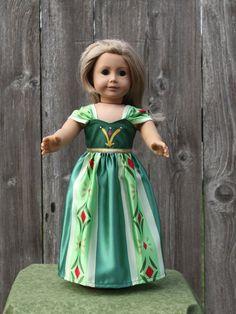 American Girl Doll ClothesFrozen Anna Doll by JustForFunStitches