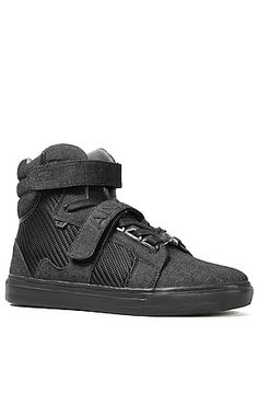 188e30e0090 AH by Android Homme The Propulsion Hi Sneaker in Black Denim