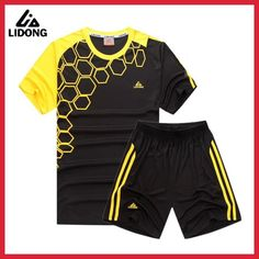 reputable site 90d39 c04bf LIDONG Kids Boy Football Kits Soccer Sets Jerseys Uniforms Futbol Training  shirts shorts Suit Polyester Short