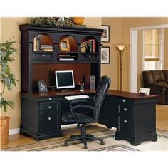 This is a great combination! A wall cabinet unit with a table or desk could easily function like this!
