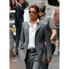 "Brad Pitt The Counselor Suit We Proudly Introduce A New Fashion Outfit With The Blend Of Traditional Yet Trendy Look. It Has A Prominent Style Declaration Of Brad Pitt That Touches The Spirits Of  His Million Fans. Revealing New Suiting Collection For All Men Welcome This Outfit With Great Appreciation The Counselor Brad Pitt Grey Style Suit From The Hollywood's Movie ""The Counselor"". This Brad Pitt Suit Is Made From The Best Quality Grey Fabric Which Guarantees Its Quality."