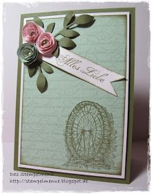 Another Feeling Sentimental Stamp Set  card from Stampin' Up! 2013 Sale-A-Bration Catalog