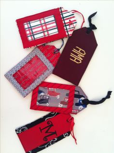 Create a fun, embellished luggage tag! I like the idea for the kid's instument cases. Can tell theirs at a glance.