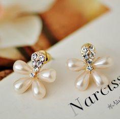 Blossom Flower Pearl Earrings | LilyFair Jewelry, $10.99!
