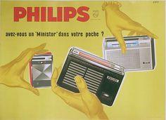 Transistor Philips - années 1960 - illustration de Eric
