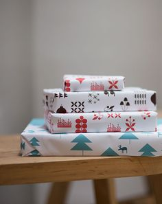 Papel de regalo imprimible >> Bloesem Living | Free Download Christmas Wrapping Paper by Jessica Nielsen