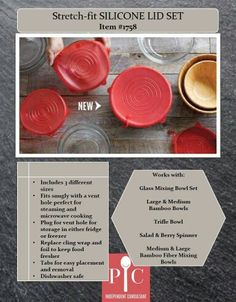 Released March Pampered Chef Stretch-Fit Silicone Lid Set (set of Replace cling wrap and foil, cover a variety of bowls, including non-PC products! Pampered Chef Party, Pampered Chef Recipes, Pampered Chef Products, Chef Images, How To Cook Meatballs, Cooked Cabbage, Cooking Tools, Kid Cooking, Cooking Games