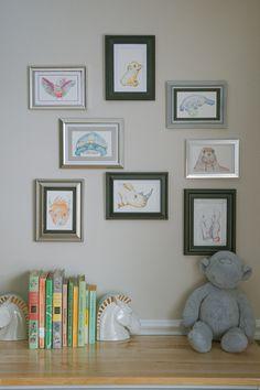 Set of 8 Pastel Animal Illustrations 5x7