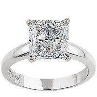 Tiffany's princess cut diamond engagement ring.