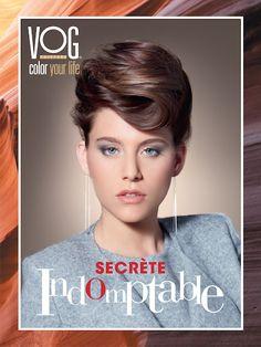 ⎜SECRETE INDOMPTABLE⎜Marron glacé aux nuances chuchotées.  Coiffure de star : le chignon est la coiffure de soirée incontournable. Vous avez toujours envié le chic et l'élégance d'Audrey Hepburn ? Cette coiffure est faite pour vous !  #vogcoiffure #vog #coiffure #beaute #coloryourlife #expertcouleur #automne #hiver #collection  #indomptable #secrete #marron #marronglace #cheveuxlongs #chignon #lumiere #intemporel #star #longs #elegance #feminin #seduction #chic Vog Coiffure, Audrey Hepburn, Short Hair Styles, Collection, Chic, Color, Fashion, Celebrity Hairstyles, Shades