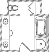 Many bathroom floor plans.