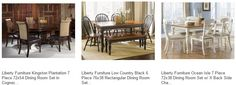 Liberty Furniture Catalog - Inexpensive Bedroom and Dining Room Furniture - Chairs and Table Sets with Bench, End Tables, and Bar Stools at eFurniture Mart online on sale. Discount Coupons and Free Shipping. #diningroomset #diningset #diningtable #diningroom #diningfurniture #DiningRoomIdeas #HomeDecor #InteriorDesigner #HomeDecorating #interiordesign #furniture #efurnituremart #HomeDecorator #decor #roomdecorating - eFurnitureMart, eFurniture Ma