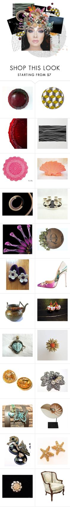 """let go"" by seasidecollectibles ❤ liked on Polyvore featuring Avon, Gorham, Christian Louboutin and vintage"
