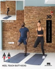 Raise your heart rate, burn fat and break a huge sweat in this awesome Cardio Workout - Beginner modifications included! Fitness Workouts, Full Body Hiit Workout, Gym Workout Videos, Cardio Workout At Home, Fitness Workout For Women, Sport Fitness, At Home Workouts, Cardio For Abs, Cardio Workout For Beginners