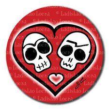 calaveras enamoradas  Day of the Dead Skulls in Love by  Ladislao Loera