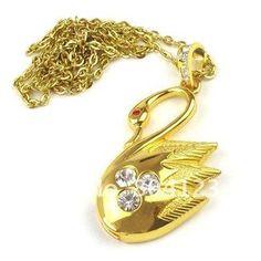 Pendrive Personalizado Jóia Cisne dourado com pedras brilhantes R$67.50