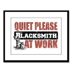 Blacksmith at work Large Framed Print