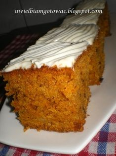 Ciasto marchewkowe Polish Desserts, Cooking Recipes, Healthy Recipes, Carrot Cake, Cake Cookies, Food Inspiration, Banana Bread, Cake Recipes, Deserts