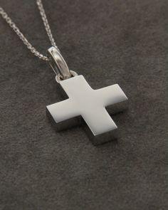 Σταυρός βαπτιστικός λευκόχρυσος Κ14