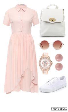 """""""Платье + кроссовки"""" - простая формула демократичного и удобного наряда на каждый день. Купить любую вещь из этого образа можно здесь:   http://looksima.ru/look/41499/"""