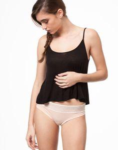 Panty Net Lace Skin von Thokk Thokk aus Bio-Baumwolle, vegan und fair Basic Tank Top, Camisole Top, Bodysuit, Vegan, Tank Tops, Lace, Shopping, Women, Fashion