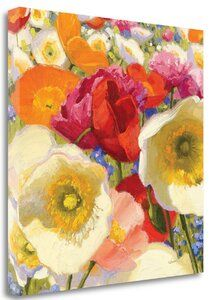 Great Big Canvas 'Sunny Abundance II' by Shirley Novak Painting Print Size: H x W x D, Format: White Framed Canvas Art Prints, Painting Prints, Canvas Wall Art, Big Canvas, Big Flowers, Nature Scenes, World Cultures, Print Format, Poppies