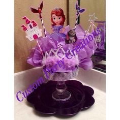 Sofia The First Centerpiece by ScarlettsCustom on Etsy, $45.00