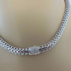 John Hardy Classic Chain Sterling Silver & Diamond Slider etSeJ5n