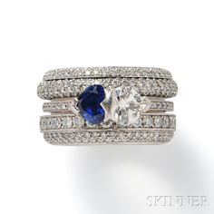 """18kt White Gold, Sapphire, and Diamond """"Possession"""" Ring, Piaget"""