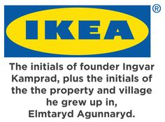 IKEA actually stands for the following:  Idiots Kill Everyday Artisticness. Buy. No. Furniture. Here. Revolt. Against. Ikea. Futureless furniture. Mass produced. Low. Quality. Short lifespan. Furniture. Producing. Giant. Throwaway. Trend.