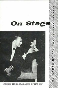 "Theatre Programme from the Premiere Detroit Production of the Jerome Kilty play ""Dear Liar,"" which performed from  June 25 thru 30, 1960 at the Shubert-Lafayette Theatre (Demolished in 1964, this theatre was located at 153 West Lafayette Avenue)."