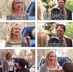 Angela and Dwight