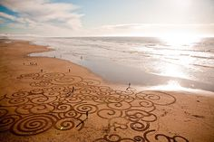 Impermanent sand paintings