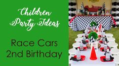Kids party ideas  racing cars 2nd birthday party