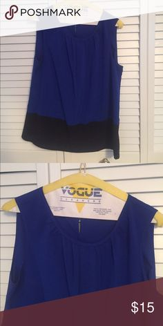 Calvin Klein royal blue and black tank Great work the summer or workplace! Calvin Klein Tops Tank Tops